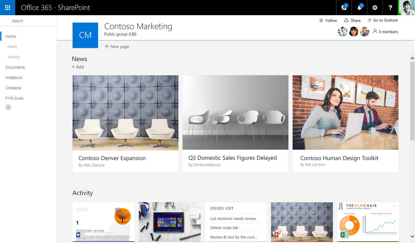 Sharepoint site design ideas - New Sharepoint Team Site 800